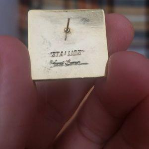 Laurel Burch Jewelry - Laurel Burch, retro, Stallion, pierced earrings